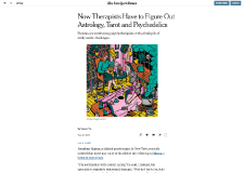 The New York Times – Now Therapists Have to Figure Out Astrology, Tarot, and Psychedelics by Sanam Yar (08/28/19)