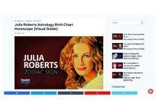 BounceMojo  – Julia Roberts Astrology Birth Chart Horoscope (03/29/21)